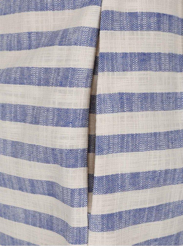 Modré pruhované kraťasy VERO MODA Laura