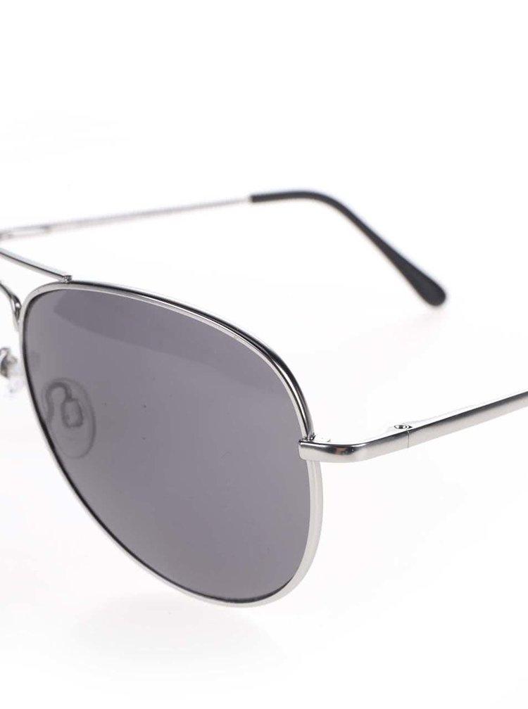 Sluneční brýle ve stříbrné barvě Selected Homme Ben
