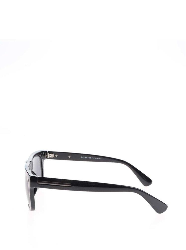 Černé sluneční brýle Selected Homme Ben