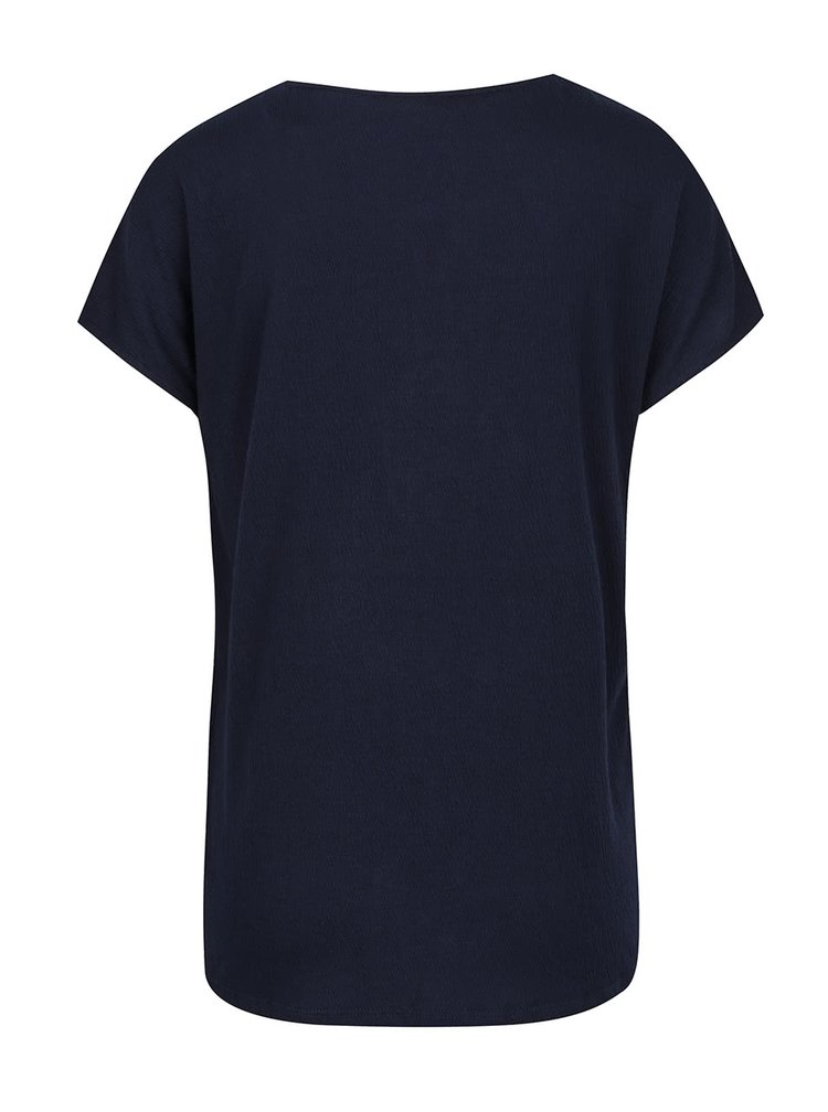 Tricou bleumarin Vero Moda Matea cu detaliu din dantela si macrame