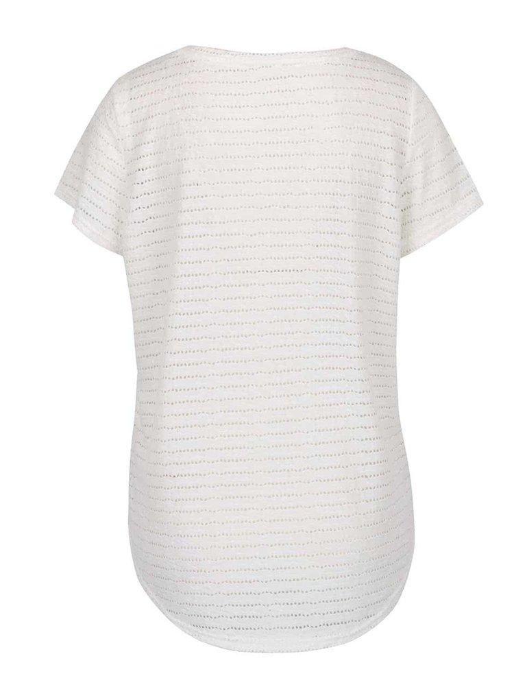 Bílé perforované tričko Vero Moda Kaya