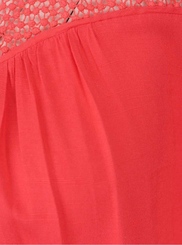 Červená halenka s průstřihy na ramenou VERO MODA Lulu