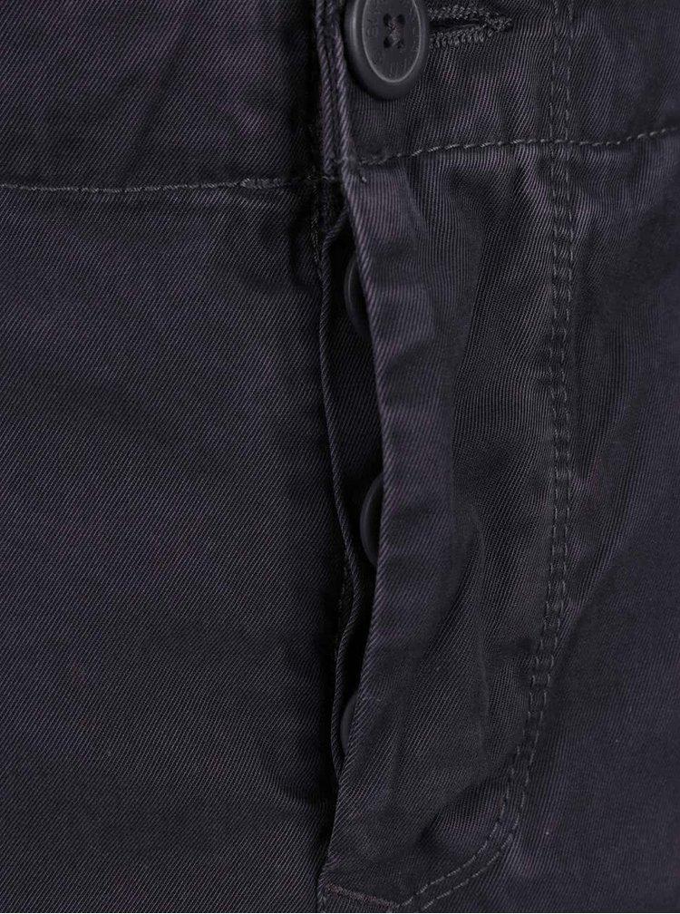 Modrošedé pánské kapsáčové kraťasy Superdry