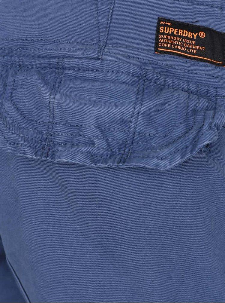 Pantaloni scurti albastri Superdry din bumbac