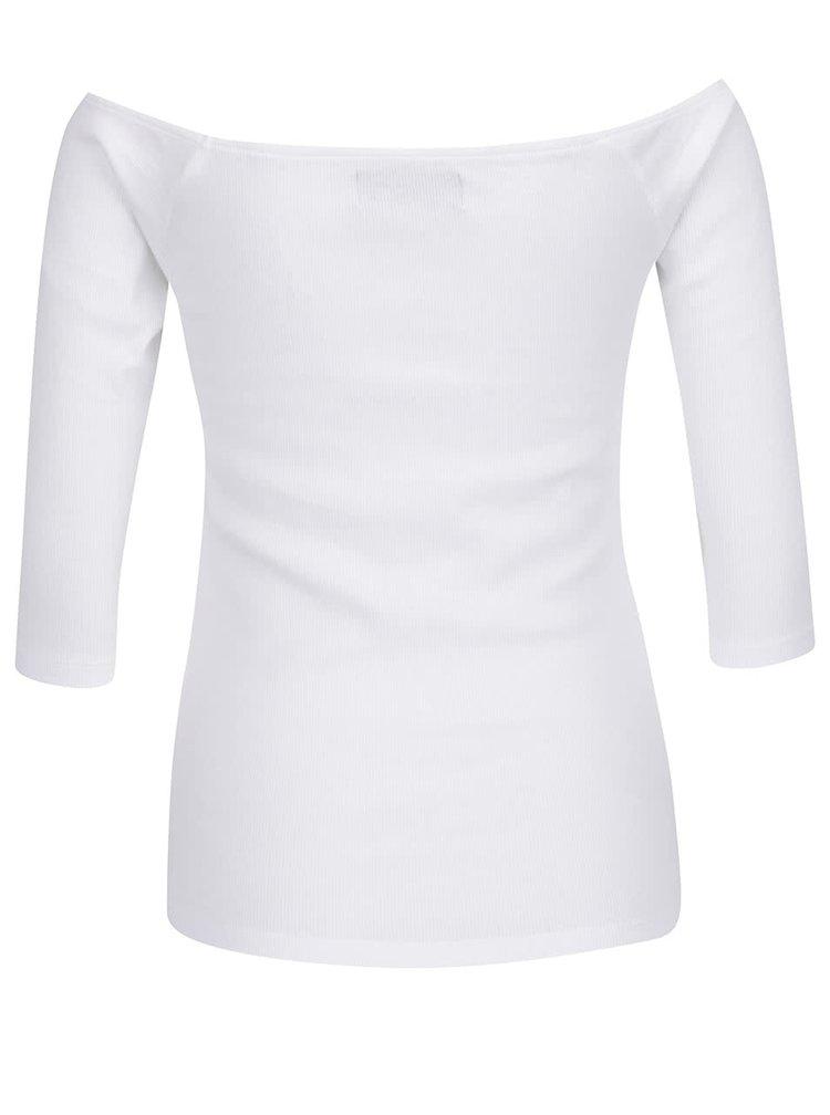 Krémové tričko s lodičkovým výstřihem VERO MODA Bal