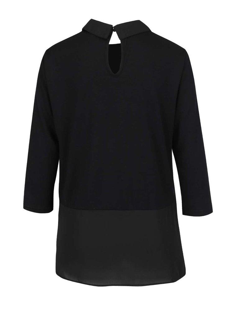 Černý top s všitou košilí Vero Moda Kacy