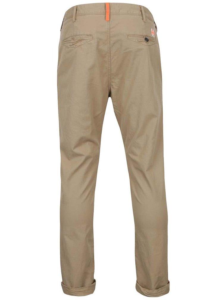 Pantaloni chino bej Superdry din bumbac