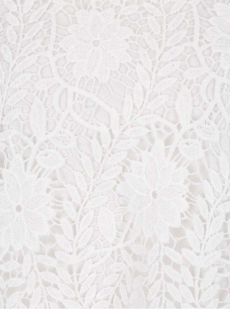 Bílé krajkové tričko VERO MODA Flora