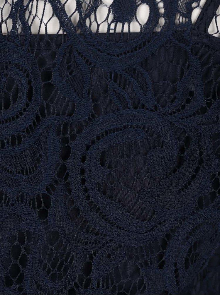 Bluză bleumarin VERO MODA Thea din dantelă