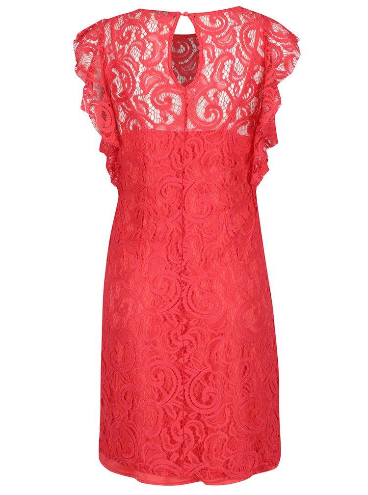 Červené krajkové šaty VERO MODA Thea