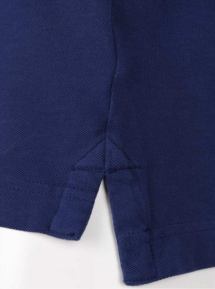 Tmavě modré pánské polo triko Superdry