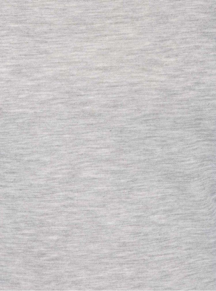 Světle šedé žíhané basic tričko ZOOT