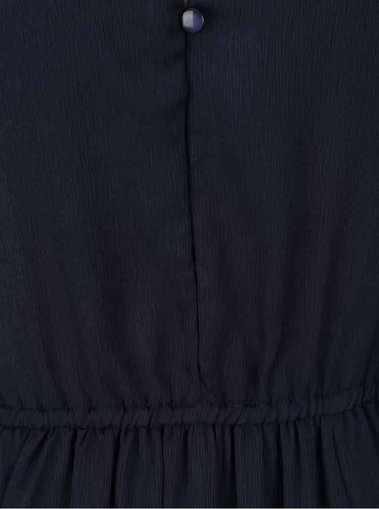 Rochie maxi bleumarin VERO MODA Dotta din material semitransparent și vaporos