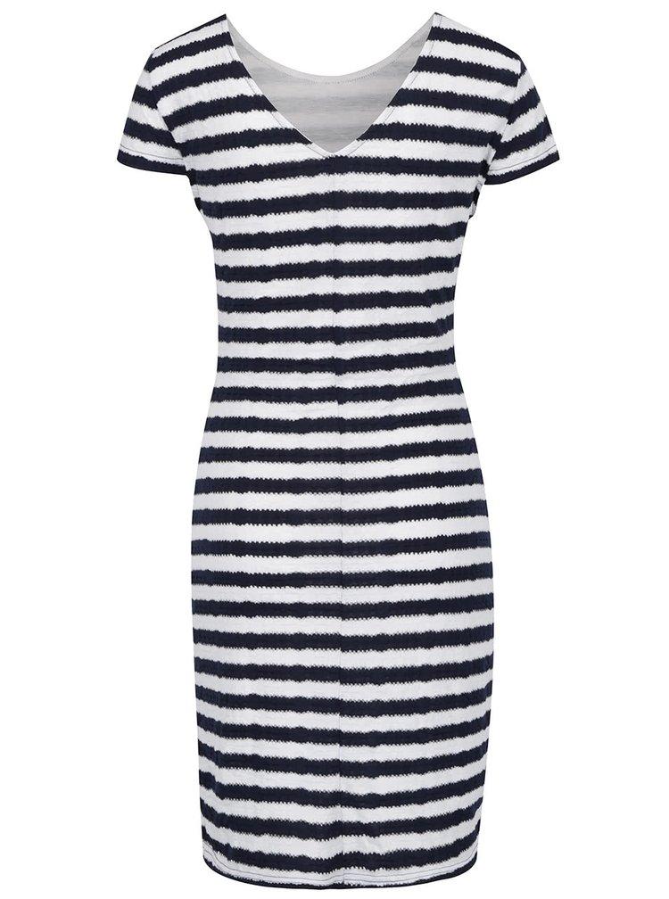 Bílo-modré pruhované šaty VERO MODA Kaya