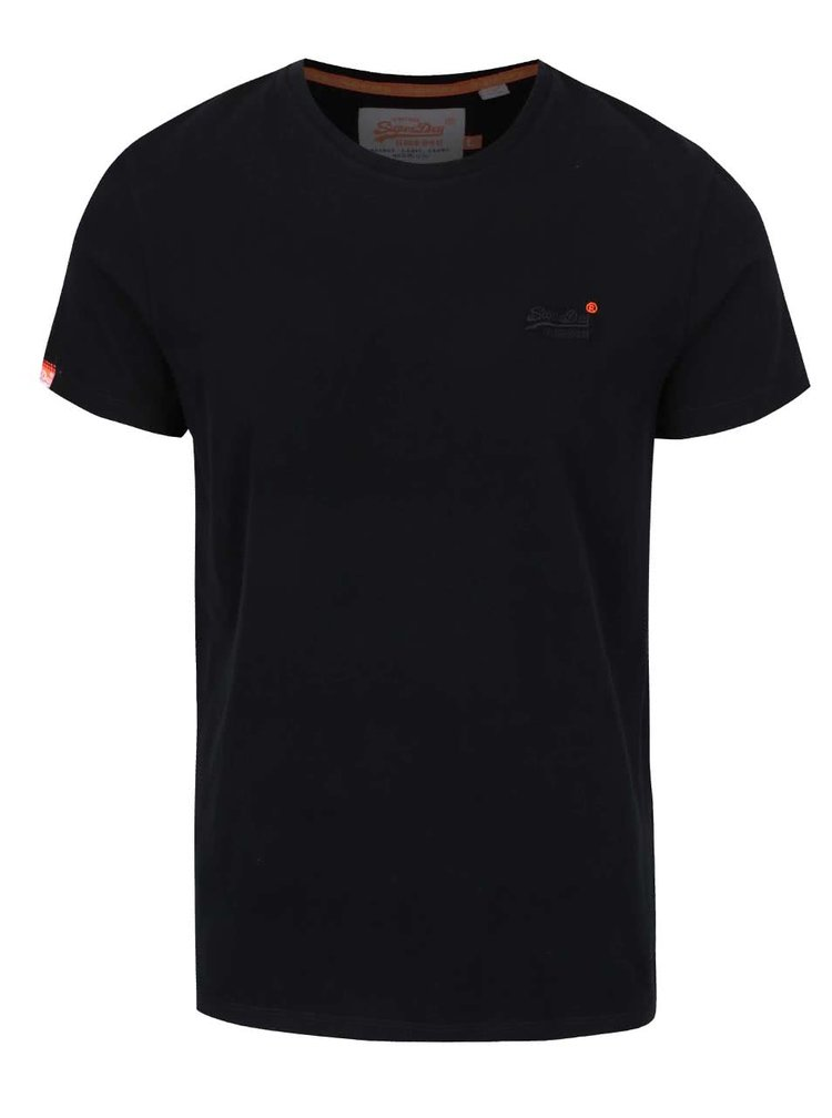Černé pánské triko Superdry
