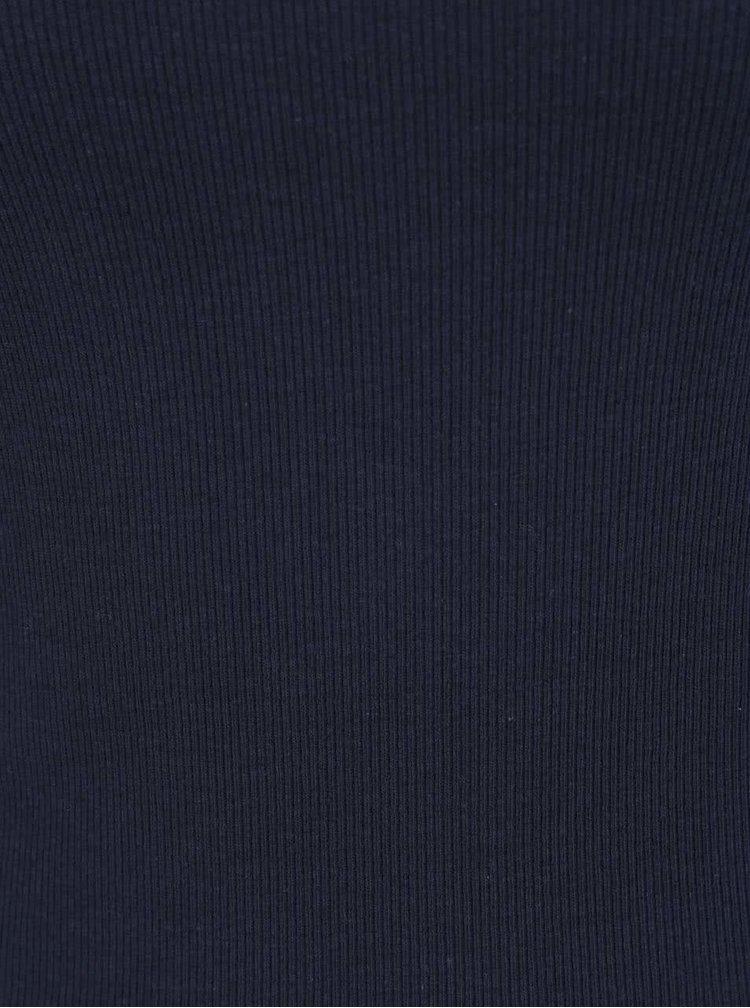 Tmavě modré tričko s lodičkovým výstřihem VERO MODA Bal