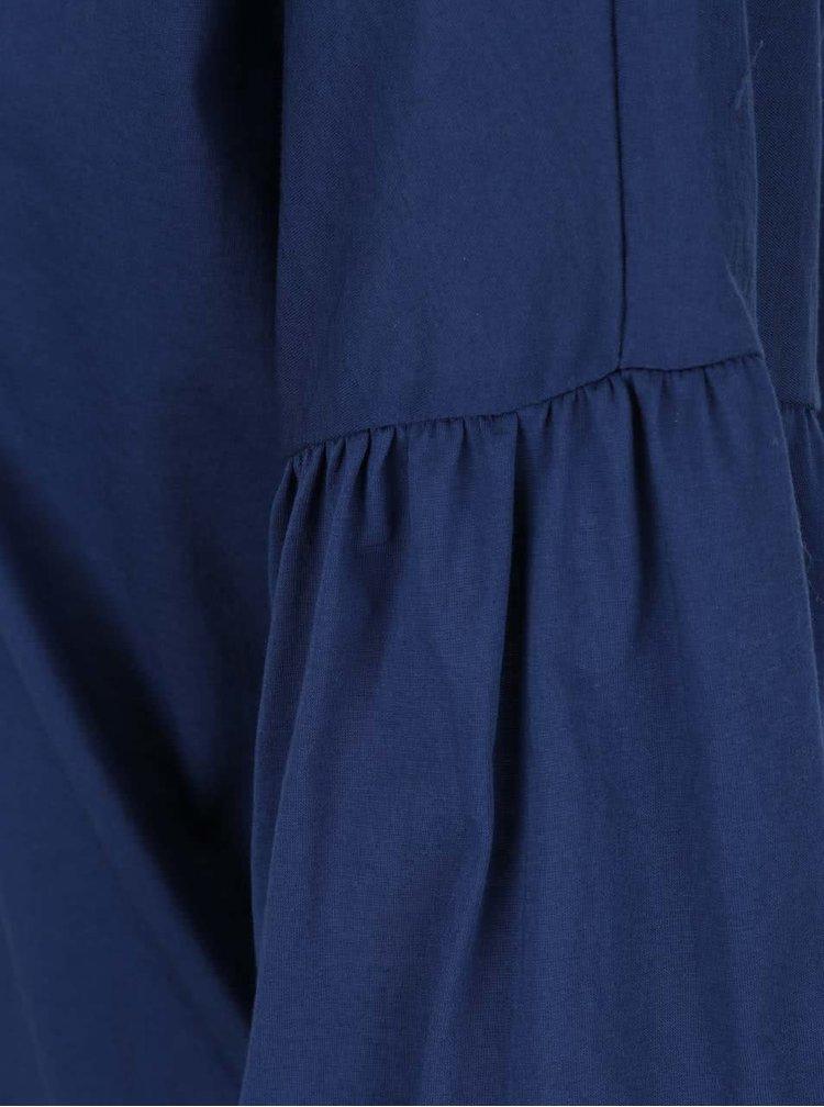 Tmavě modrá halenka se zvonovými rukávy VILA Filila