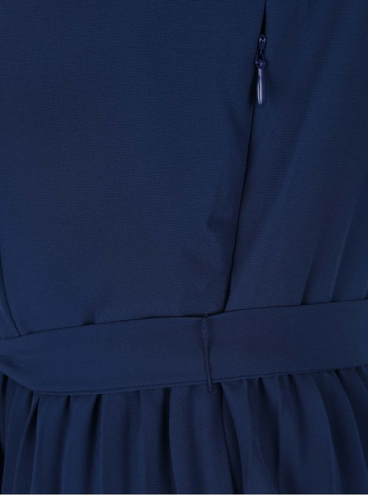 Tmavě modré šaty s plisovanou sukní VILA Erica