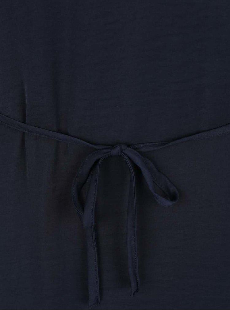 Tmavě modré šaty s krajkovým sedlem a rukávy VILA Melli