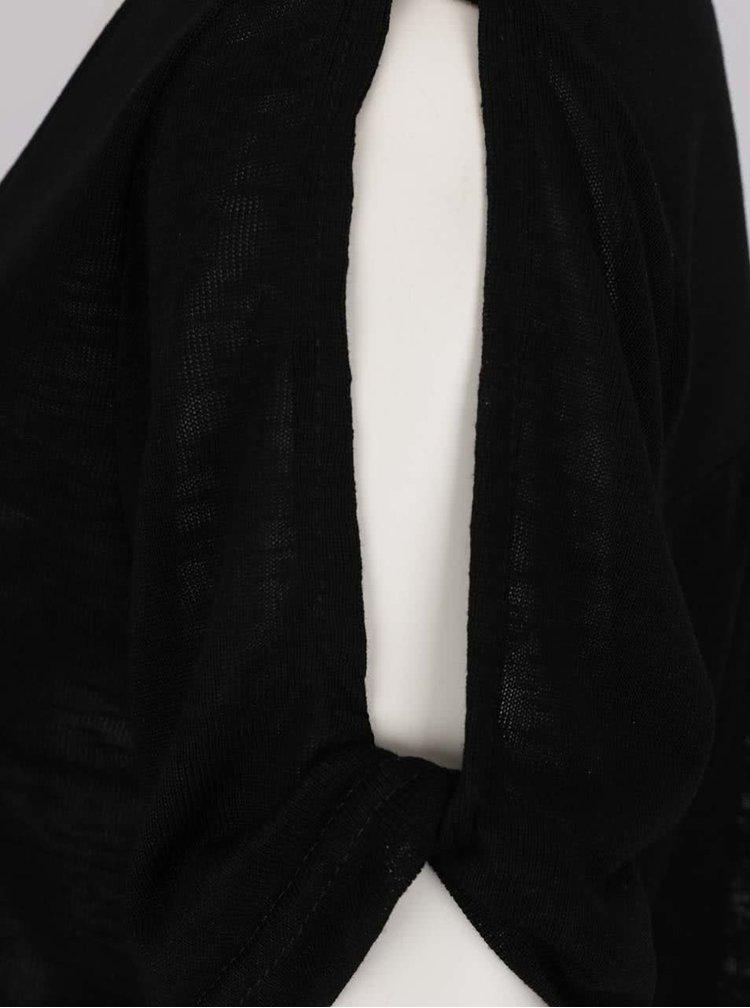 Bluza neagra VILA Uran cu croi lejer