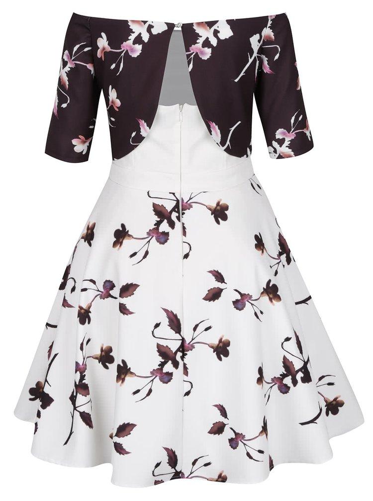 Hnědo-krémové vzorované šaty Little Mistress