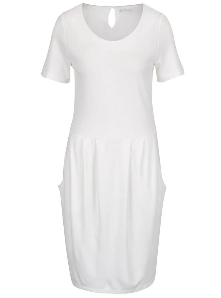 Krémové šaty s kapsami VILA Takum
