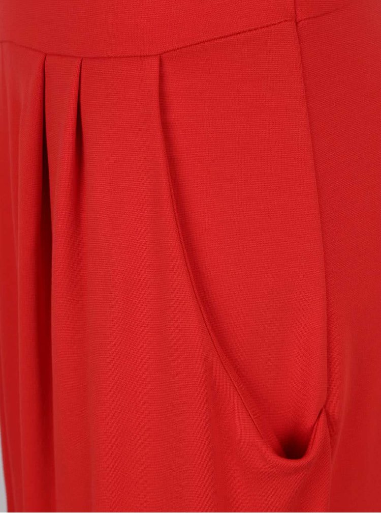 Rochie roșie VILA Takum cu buzunare