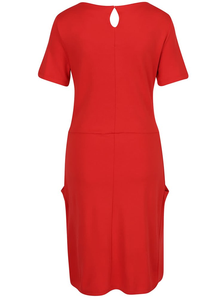Červené šaty s kapsami VILA Takum
