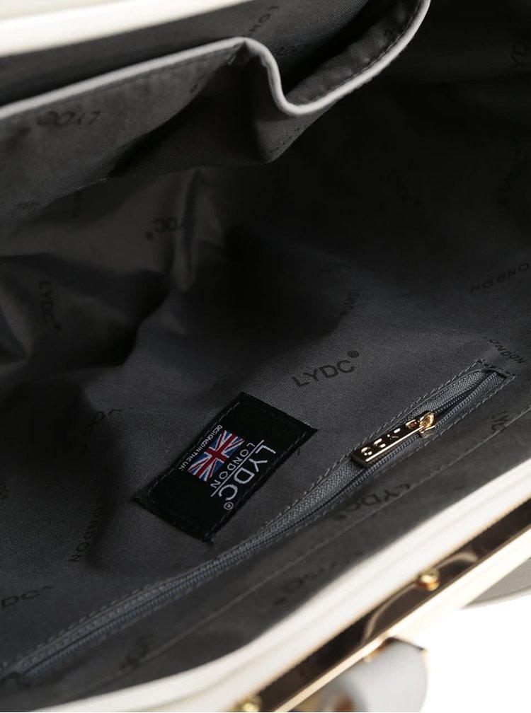 Geantă shopper negru&gri LYDC cu model perforat
