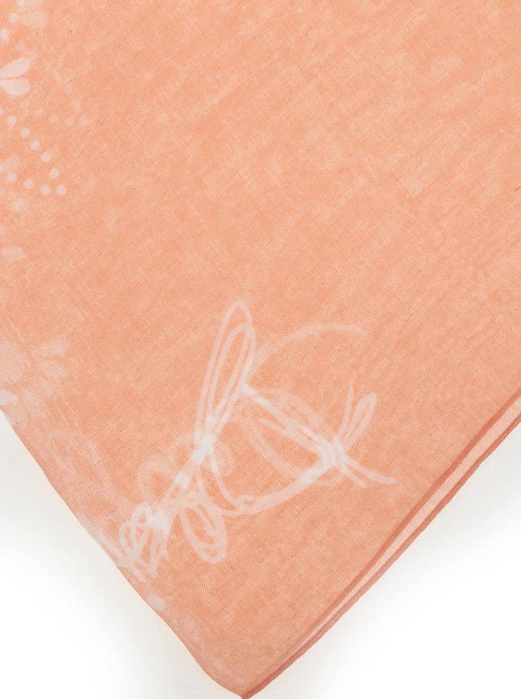 Oranžový vzorovaný šátek Desigual