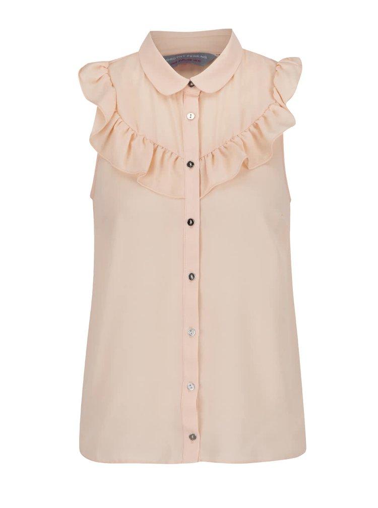 Světle růžová košile halenka bez rukávů Dorothy Perkins Petite