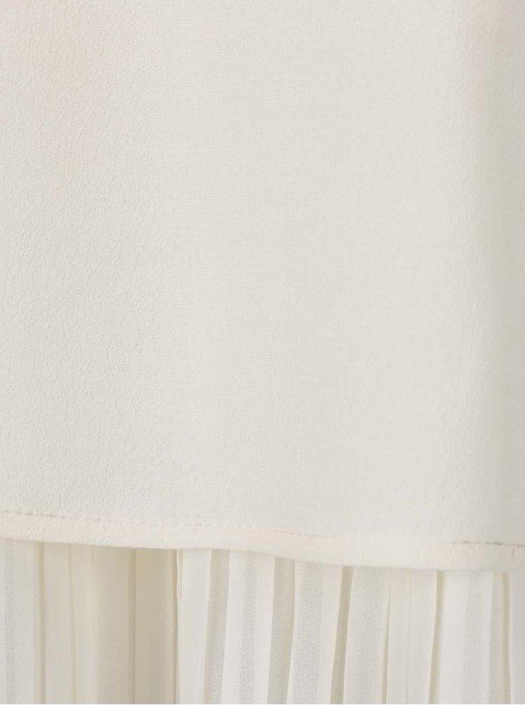 Krémová volná halenka s plisovanými detaily VILA Erica