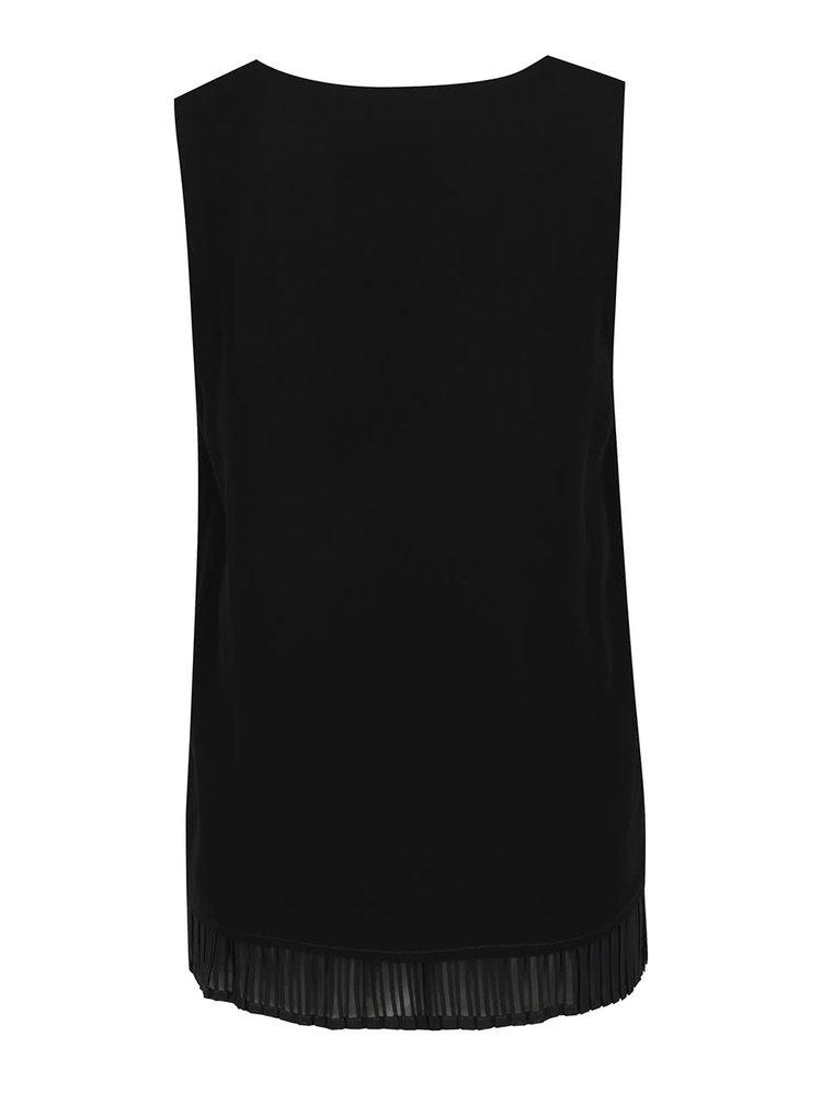 Černá volná halenka s plisovanými detaily VILA Erica