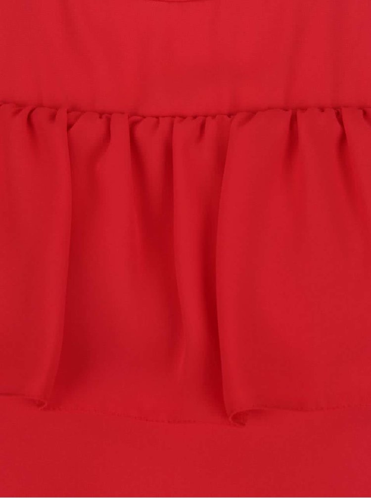 Top roșu Dorothy Perkins Petite cu decupaj pe umeri