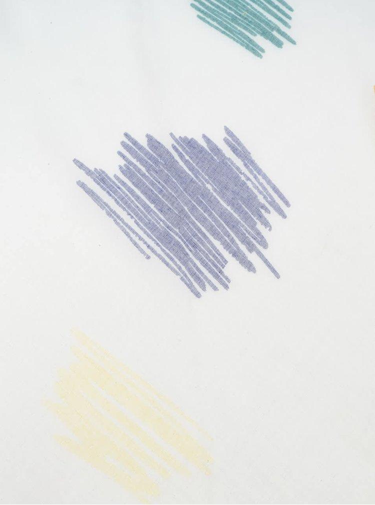 Esarfa alba Desigual cu franjuri