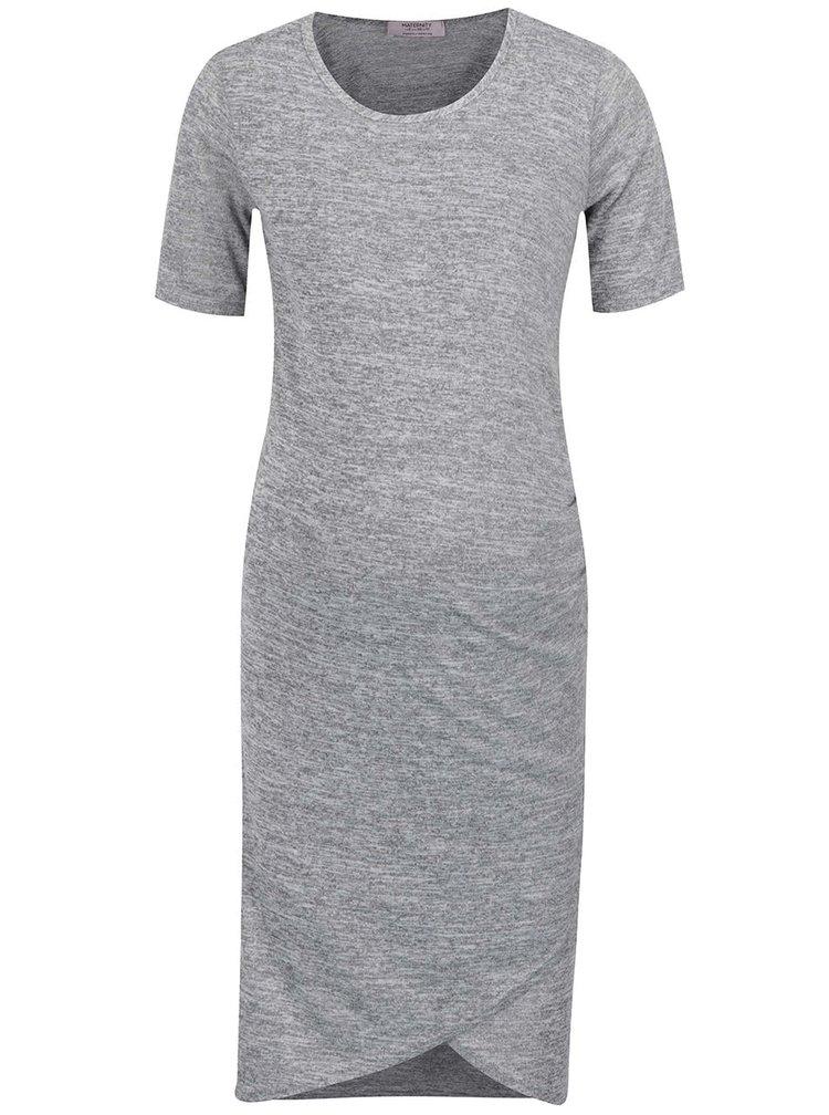 Šedé žíhané těhotenské šaty Dorothy Perkins
