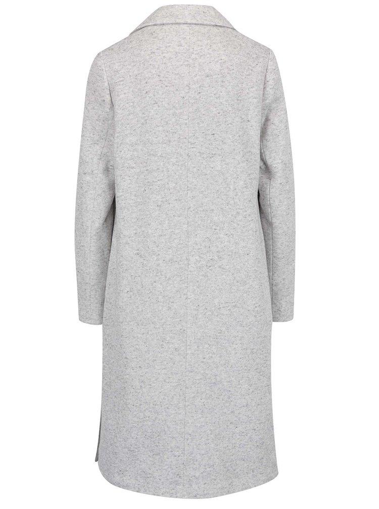 Světle šedý žíhaný kabát s rozparky Dorothy Perkins