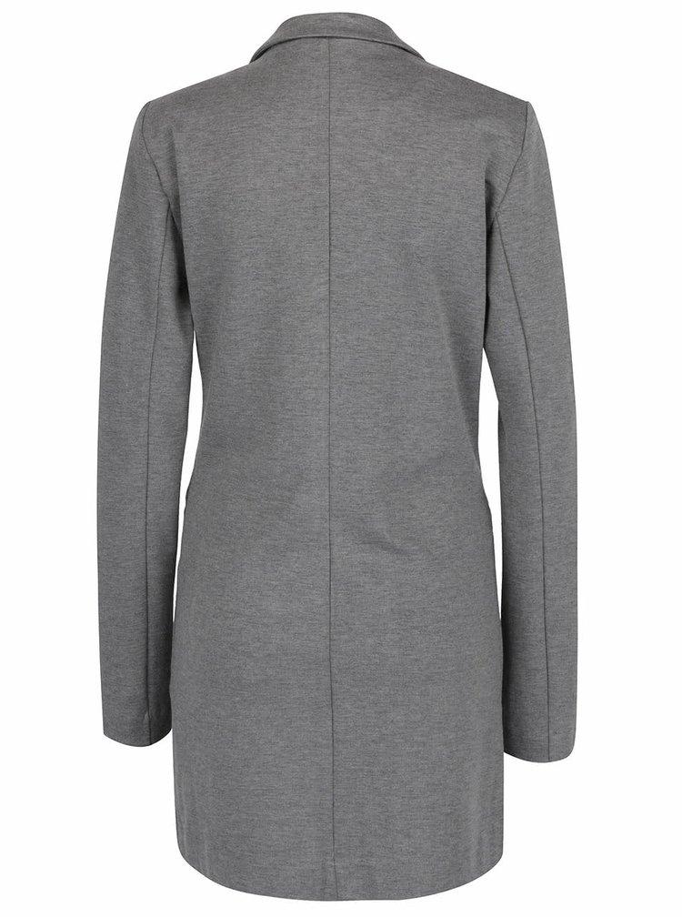Šedý lehký kabát VILA Riasta