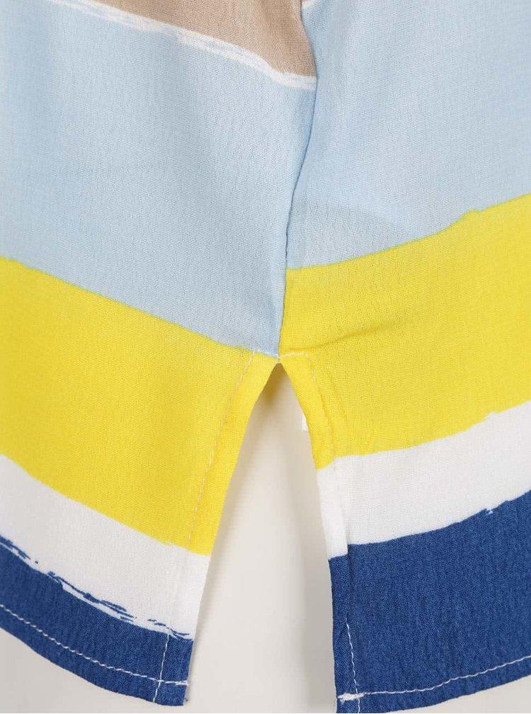 Modro-žluté pruhované tílko VILA Nilas