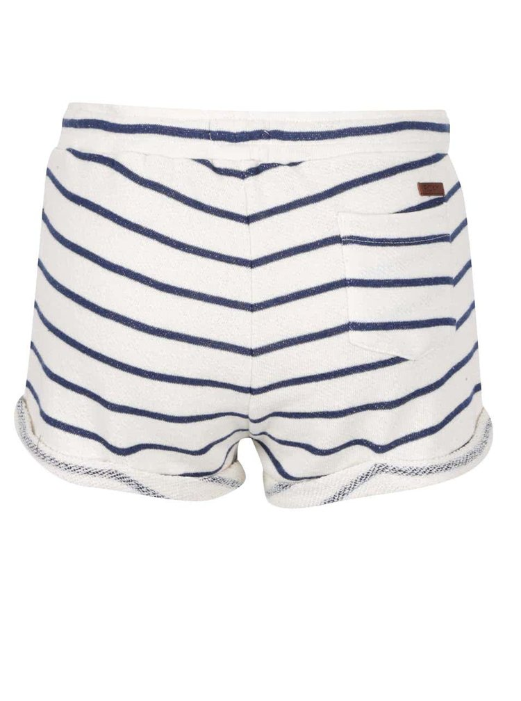 Pantaloni scurți Roxy Signature crem cu albastru