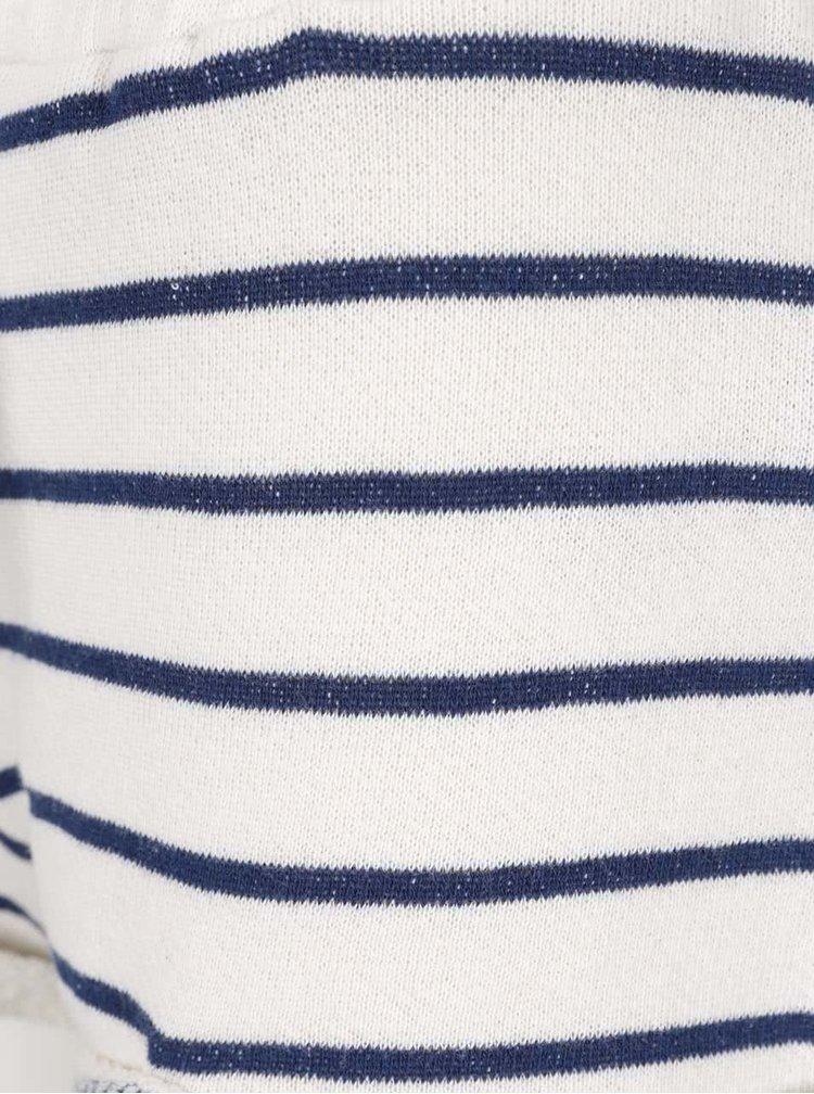 Pantaloni scurti Roxy Signature crem cu albastru