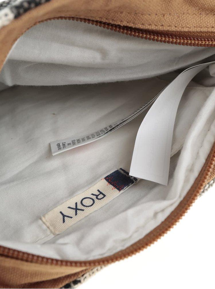 Geantă crossbody crem Roxy Silver cu model și ciucuri