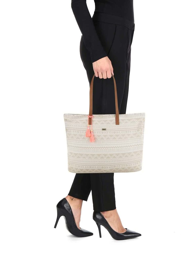 Geantă shopper bej Roxy Single Water