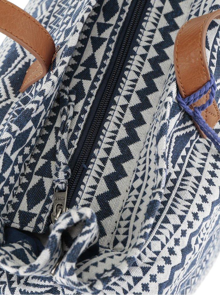 Geanta shopper albastra Roxy Single Water cu model