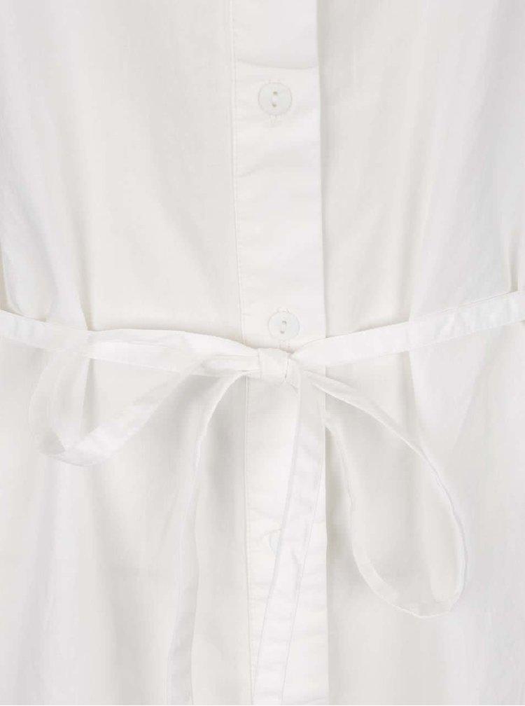 Krémové volné šaty s krajkovými rukávy VILA Geller