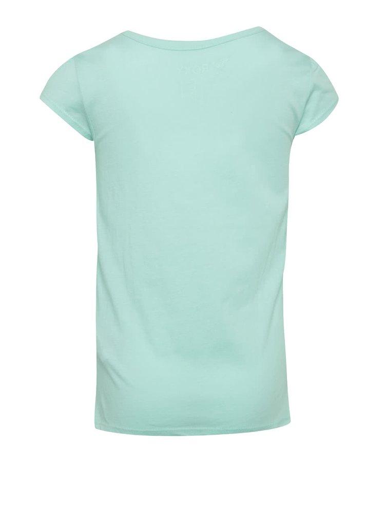 Tricou verde cu print Roxy de fete