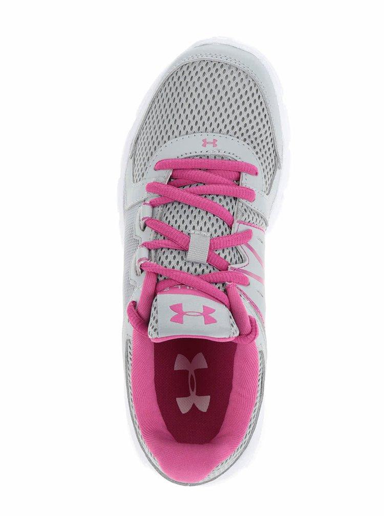 Pantofi sport roz-gri Under Armour Thrill 2 pentru femei