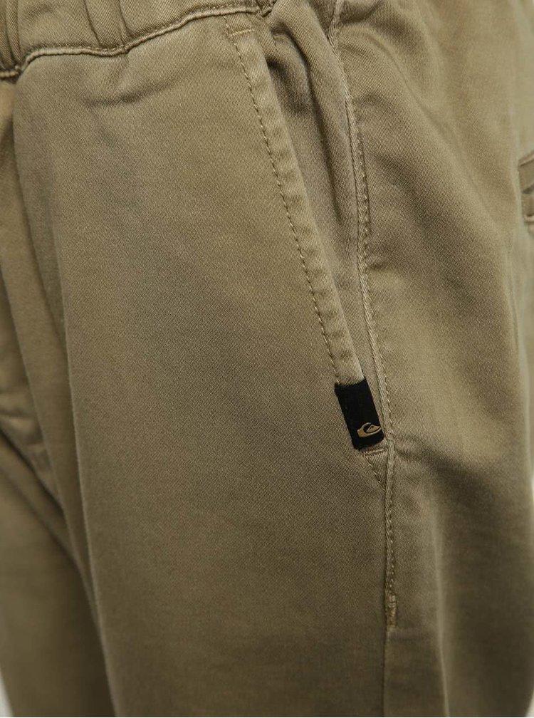 Béžové klučičí kalhoty s gumou v pase Quiksilver