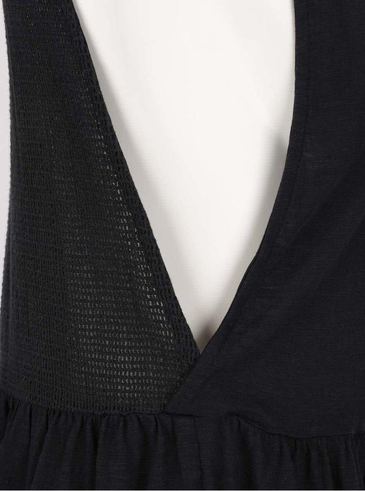 Černé šaty se síťovanou zadní částí Roxy One