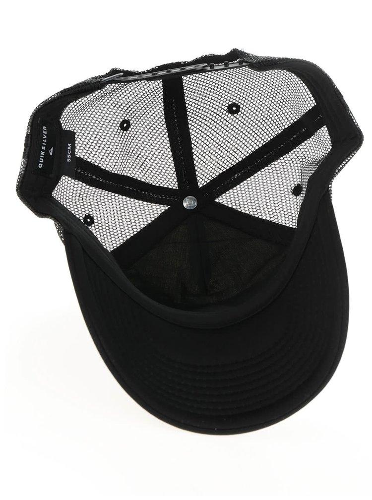 Černá klučičí kšiltovka s pruhovaným vzorem Quiksilver